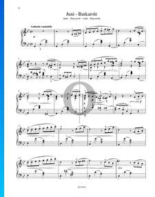 Las estaciones, Op. 37a: 6. Junio - Barcarola