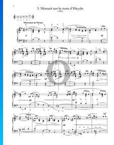 Menuet sur le nom d'Haydn, M.58