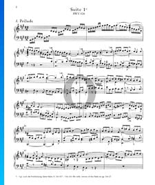English Suite No. 1 A-Major, BWV 806: 1. Prélude