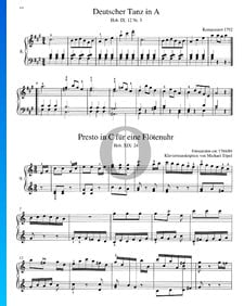 Presto in C-Dur für eine Flötenuhr, Hob. XIX:24