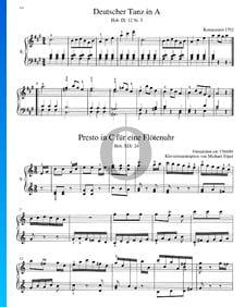 Presto in C Major (Flötenuhr), Hob. XIX:24
