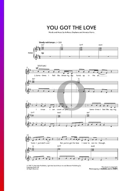 You've Got The Love Sheet Music