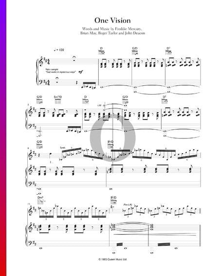 One Vision Musik-Noten