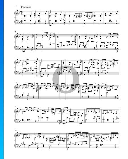 Partita in G Minor, BWV 1004: 5. Ciaccona Sheet Music