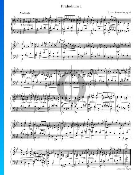 Prelude g-Moll Nr. 1, Op. 16 Musik-Noten