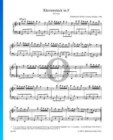Klavierstück F-Dur, KV 33b