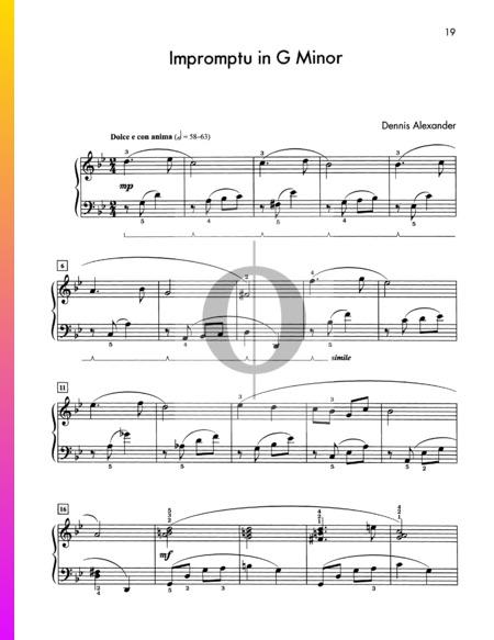 Impromptu in G Minor Sheet Music