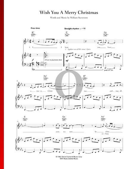 Wish You A Merry Christmas Musik-Noten
