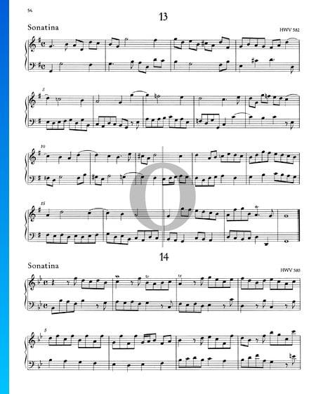 Sonatina G-Dur, HWV 582 Musik-Noten