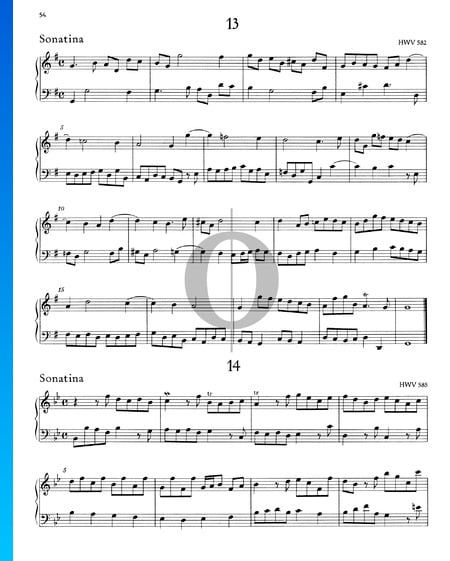 Sonatina G Major, HWV 582 Sheet Music