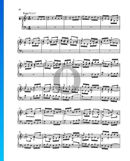 Fugue F Major, BWV 880 Sheet Music