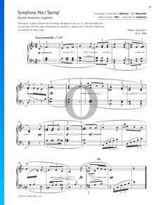 Sinfonía n.º 1 en si bemol mayor, Op. 38 (Primavera): 2. Larghetto