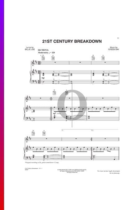 21st Century Breakdown Musik-Noten