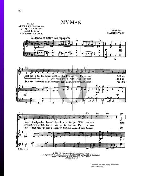 My Man (Mon Homme) Musik-Noten