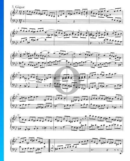 English Suite No. 3 G Minor, BWV 808: 7. Gigue Sheet Music