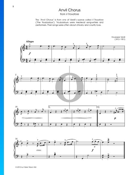 Anvil Chorus Sheet Music