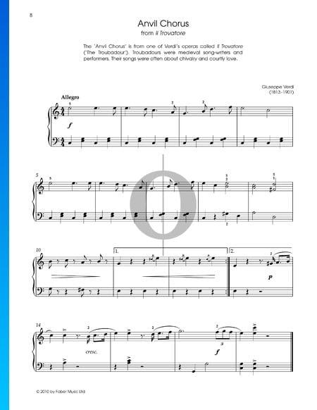 Coro de gitanos Partitura