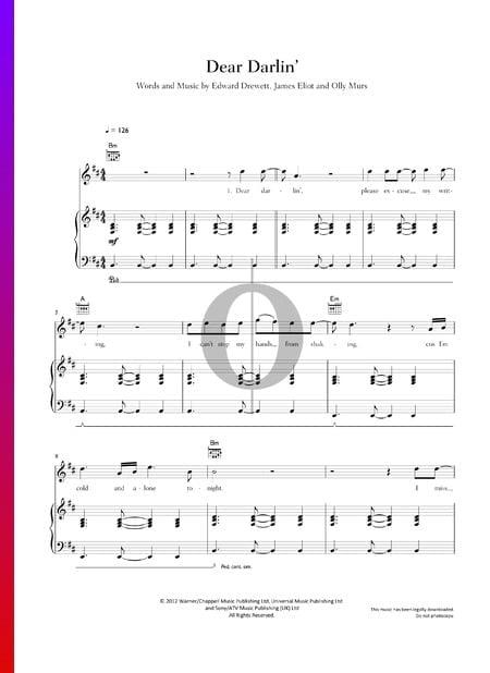 Dear Darlin' Musik-Noten
