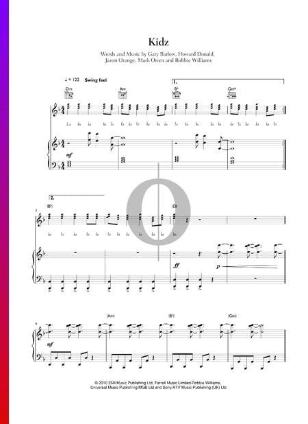 Kidz Sheet Music