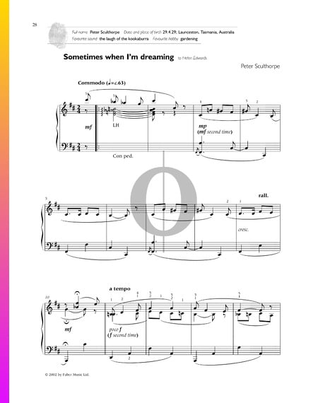 Sometimes When I'm Dreaming Sheet Music