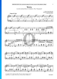 Incidental Music to Lermontov's Play: Waltz (Masquerade)