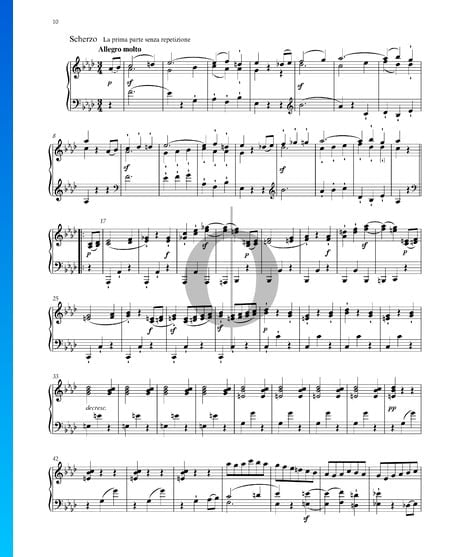 Grande Sonata (''Funeral March''), Op. 26: 2. Scherzo Sheet Music