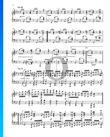 Variationen und Fuge über ein Thema von Händel, Op. 24: Variation III Musik-Noten