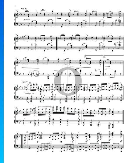 Variations and Fugue on a Theme by Handel, Op. 24: Variation III Sheet Music