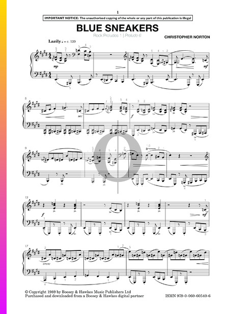 Rock Preludes: No. 6 Blue Sneakers Sheet Music