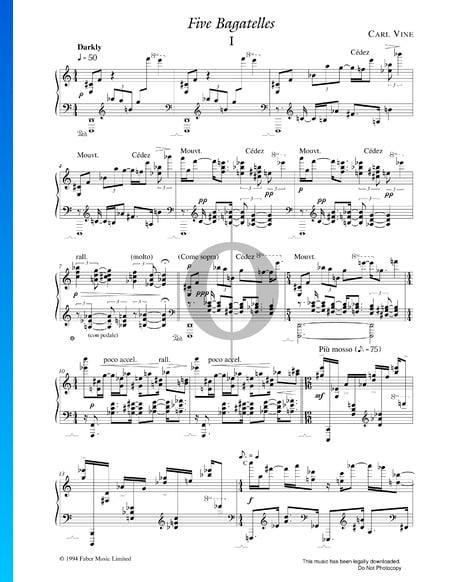 Fünf Bagatellen Musik-Noten