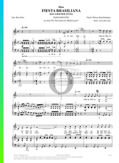 Fiesta Brasiliana (Das Lied der Lüge) Sheet Music