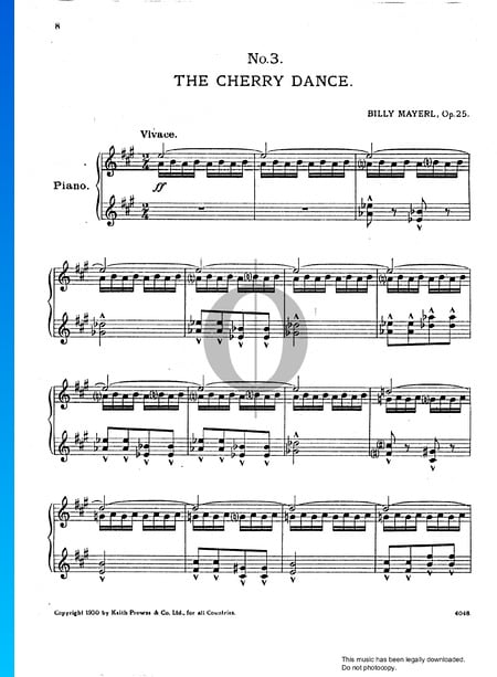 Three Japanese Pictures, Op. 25: No. 3 The Cherry Dance Musik-Noten