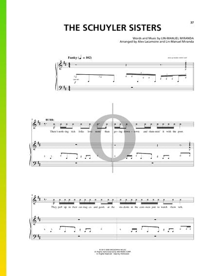 The Schuyler Sisters Sheet Music