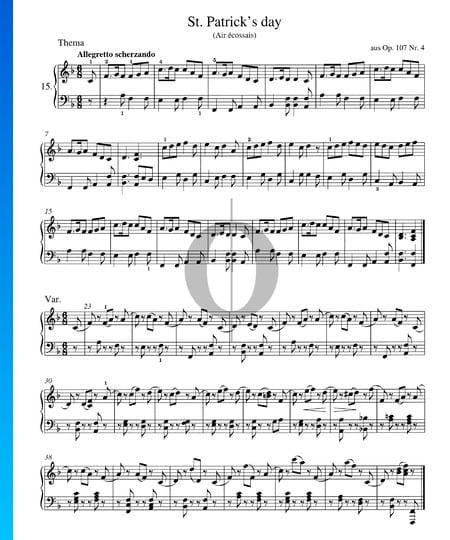 St. Patricks's Day, Op. 107 No. 4 Sheet Music