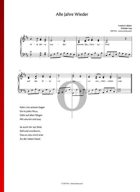 Alle Jahre Wieder Musik-Noten