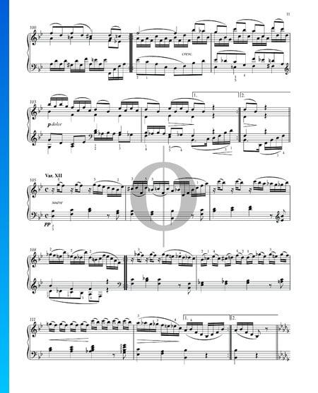 Variations et Fugue sur un Thème de Handel, Op. 24: Variation XII Partition