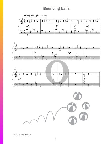 Bouncing balls Sheet Music