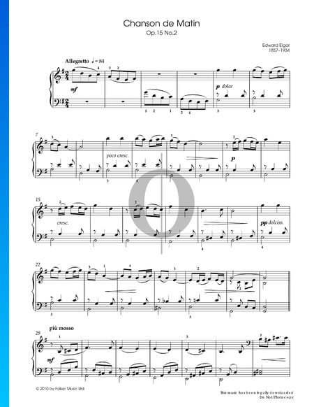Chanson de Matin, Op. 15 No. 2 Sheet Music