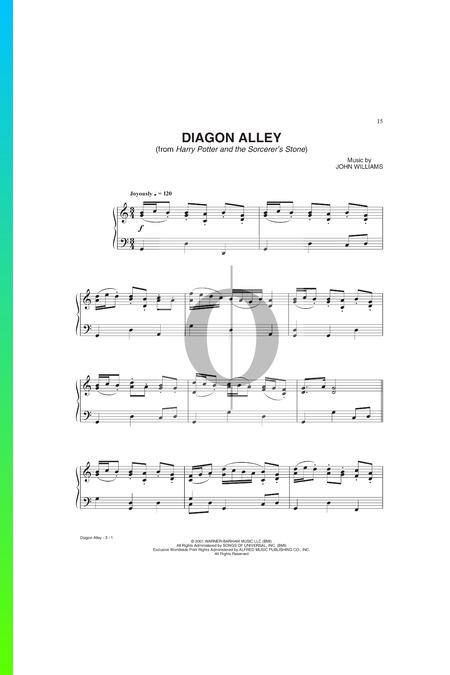 Diagon Alley Musik-Noten