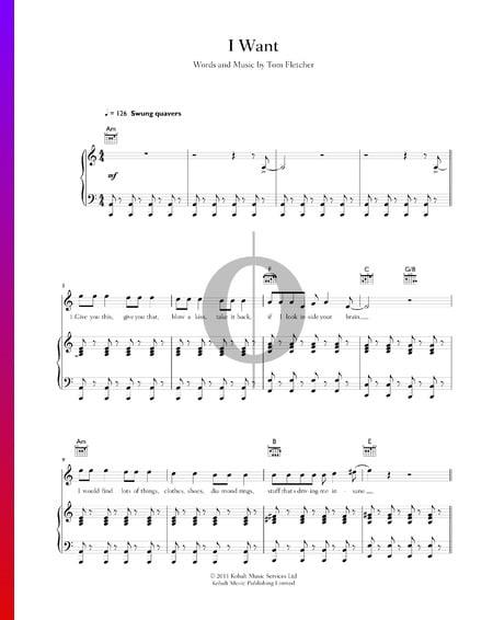 I Want Musik-Noten