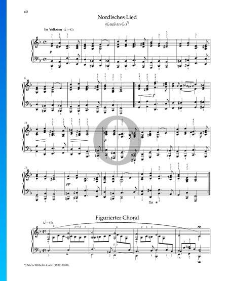 Canción del norte, Op. 68 n.º 41 Partitura