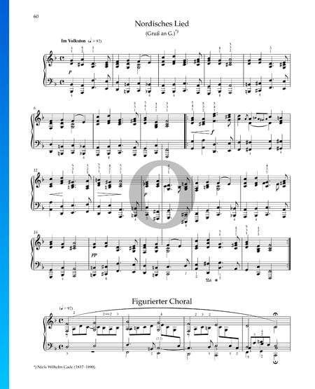 Nordisches Lied, Op. 68 Nr. 41 Musik-Noten