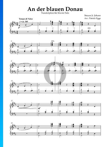 El Danubio azul, Op. 314 Partitura