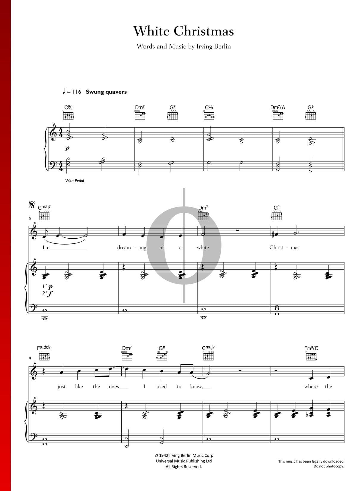 White Christmas Piano Sheet Music.White Christmas Sheet Music Piano Voice Guitar Pdf