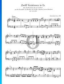 12 variaciones en mi bemol mayor, KV 354 (299a)