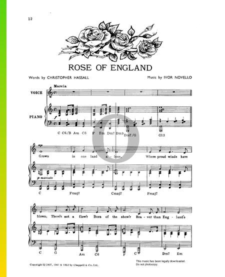 Rose Of England Sheet Music