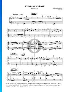 Sonata en re menor (Pastoral), K9: 1. Allegretto