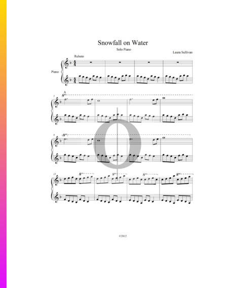 Snowfall On Water Sheet Music