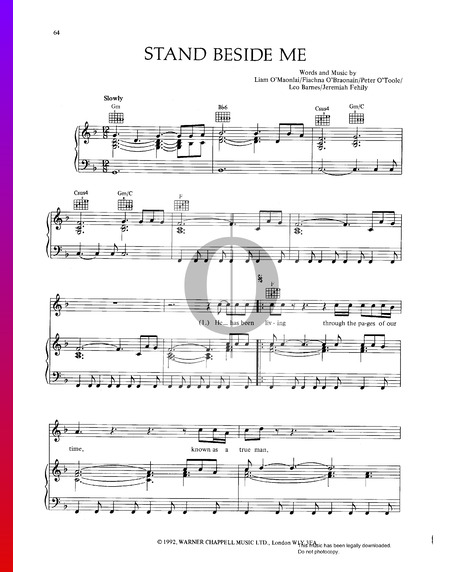 Stand Beside Me Sheet Music