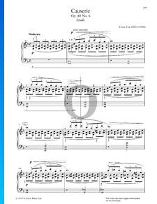 Causerie, Op. 40 No. 6